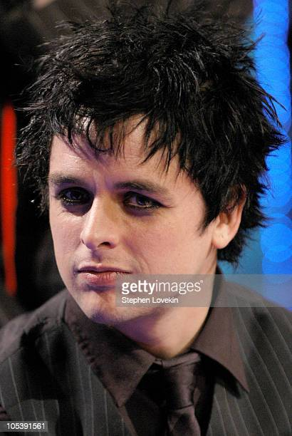Billie Joe Armstrong of Green Day during Green Day Visits FUSE's 'Daily Download' January 5 2005 at FUSE Studios in New York City New York United...