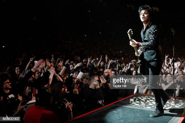 Billie Joe Armstrong of Green Day performs at Barclays Center on March 15 2017 in New York City