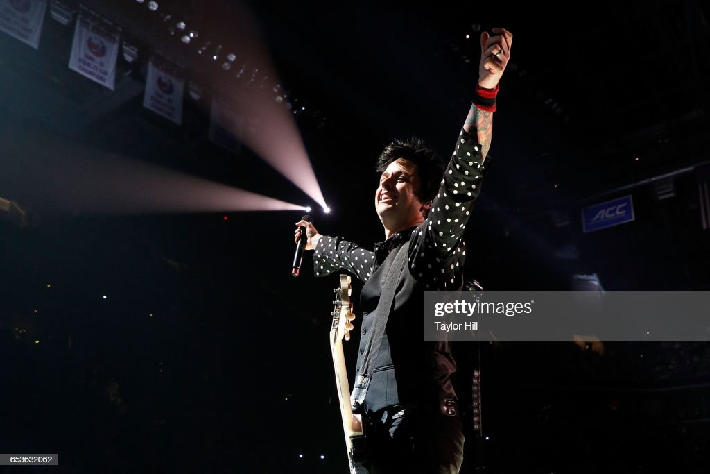 Billie Joe Armstrong of Green Day performs at Barclays Center on March 15, 2017 in New York City.