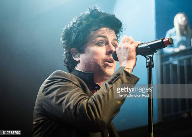 Billie Joe Armstrong of Green Day performs at their sold out show at the 930 Club on Monday