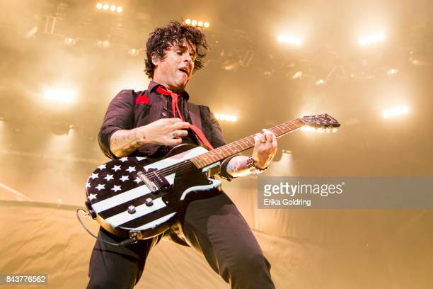 Billie Joe Armstrong of Green Day performs during the 2017 'Radio Revolution' Tour at The Amphitheater at the Wharf on September 6 2017 in Orange...