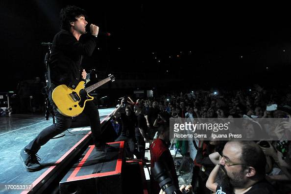 Billie Joe Armstrong of Green Day performs in concert at Unipol Arena on June 6 2013 in Bologna Italy
