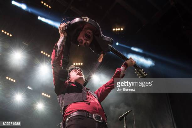 Billie Joe Armstrong of Green Day performs live at White River Amphitheatre on August 1 2017 in Auburn Washington