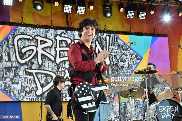 Billie Joe Armstrong of Green Day performs on ABC's 'Good Morning America' in Central Park on May 19 2017 in New York City