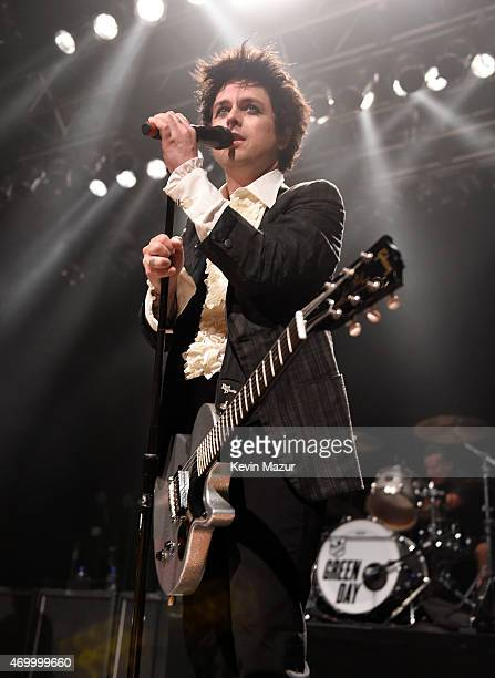 Billie Joe Armstrong of Green Day performs onstage at House Of Blues on April 16 2015 in Cleveland Ohio