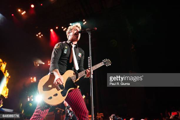 Billie Joe Armstrong of Green Day performs onstage at the Verizon Wireless Amphitheatre on August 31 2010 in Irvine California