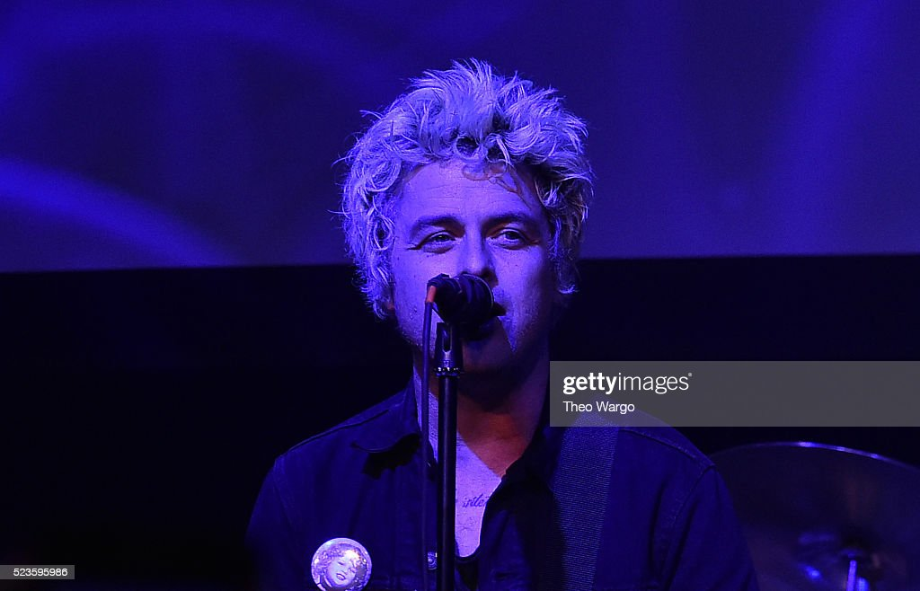 Billie Joe Armstrong performs at 'Geezer' Premiere - 2016 Tribeca Film Festival at Spring Studios on April 23, 2016 in New York City.