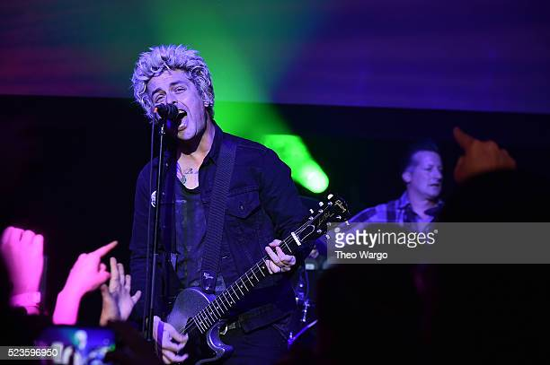 Billie Joe Armstrong performs at 'Geezer' Premiere 2016 Tribeca Film Festival at Spring Studios on April 23 2016 in New York City