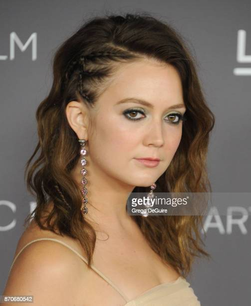 Billie Lourd arrives at the 2017 LACMA Art Film Gala honoring Mark Bradford and George Lucas at LACMA on November 4 2017 in Los Angeles California