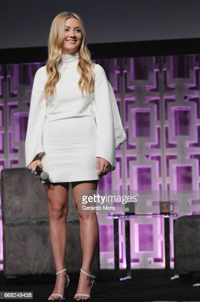 Billie Lourd attends the 40 YEARS OF STAR WARS PANEL during the 2017 STAR WARS CELEBRATION at Orange County Convention Center on April 13 2017 in...