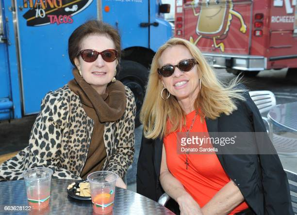 Billie Milam Weisman and Suzette Abbott attend MOCA's Leadership Circle and Members' Opening of 'Carl Andre Sculpture as Place 19582010' and 'Arthur...