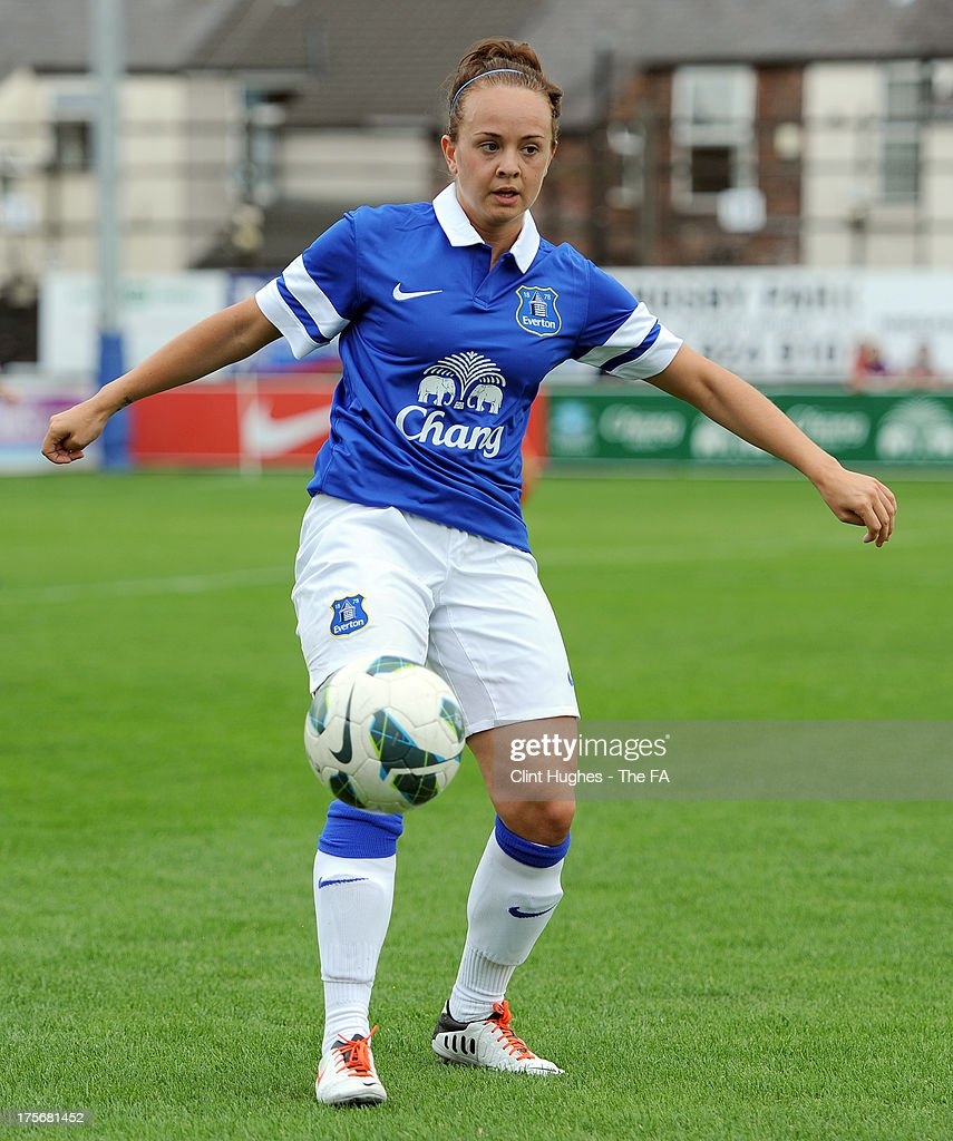 Billie Murphy of Everton Ladies FC during the FA WSL match between Everton Ladies FC and Bristol Academy Women's FC at the Arriva Stadium on July 4, 2013 in Liverpool, England