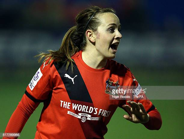 Billie Murphy of Sheffield FC during the FA WSL 2 match between Sheffield FC and Durham Ladies at the Home of Football Stadium on March 23 2016 in...