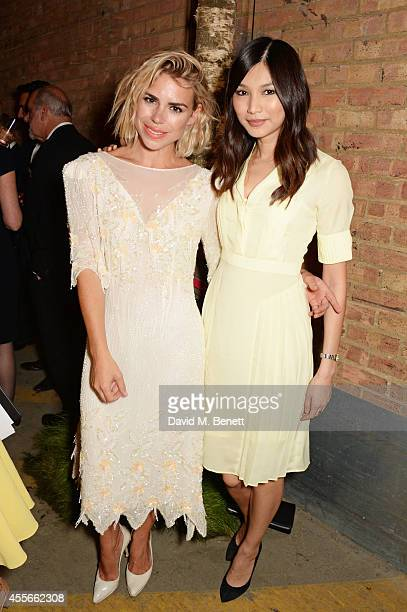Billie Piper and Gemma Chan attend the Bright Young Things Gala 2014 a Young Patrons of the National Theatre gala event in support of emerging...