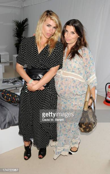 Billie Piper and Grace Woodward attend the Boujis tent at the Audi International Polo day at Guards Polo Club on July 28 2013 in Egham England