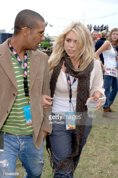 Billie Piper and guest in the Virgin Mobile Louder Lounge at the V Festival