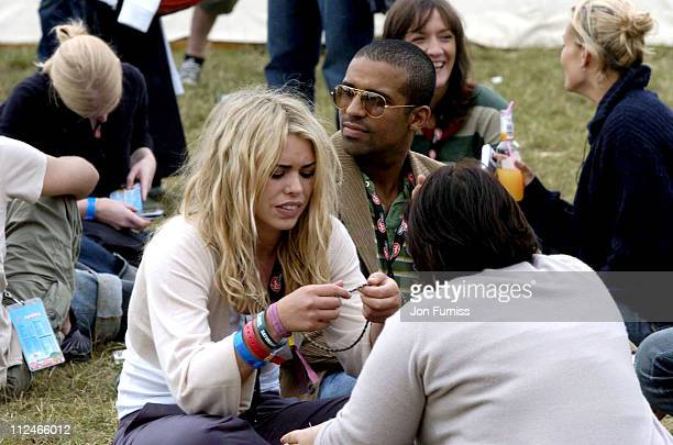 Billie Piper and guests in the Virgin Mobile Louder Lounge at the V Festival