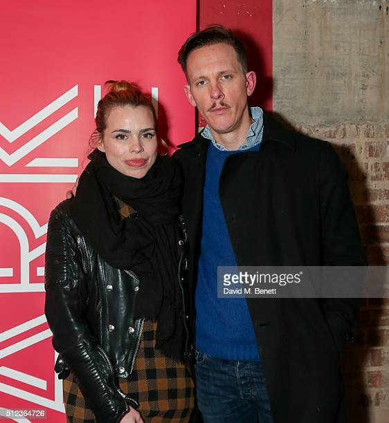 Billie Piper and Laurence Fox attend the press night performance of 'The Patriotic Traitor' at the Park Theatre on February 25 2016 in London England