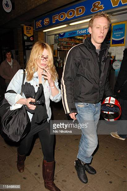 Billie Piper and Laurence Fox during Billie Piper Sighted Leaving the Garrick Theatre March 12 2007 in London Great Britain