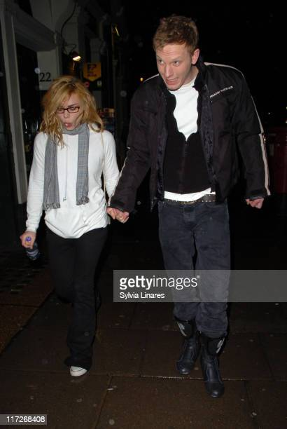Billie Piper and Laurence Fox during Billie Piper Sighting at the Garrick Theatre in London March 2 2007 at Garrick Theatre in London Great Britain