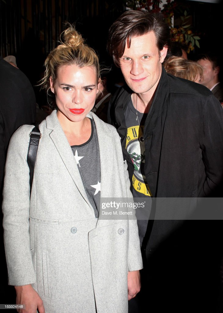 <a gi-track='captionPersonalityLinkClicked' href=/galleries/search?phrase=Billie+Piper&family=editorial&specificpeople=157486 ng-click='$event.stopPropagation()'>Billie Piper</a> (L) and <a gi-track='captionPersonalityLinkClicked' href=/galleries/search?phrase=Matt+Smith+-+Actor&family=editorial&specificpeople=6877373 ng-click='$event.stopPropagation()'>Matt Smith</a> attend an after party celebrating the press night performance of 'Our Boys' at One Aldwych on October 3, 2012 in London, England.