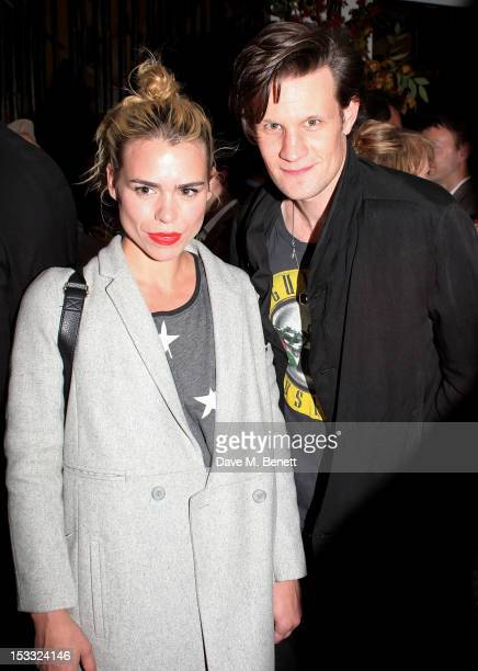 Billie Piper and Matt Smith attend an after party celebrating the press night performance of 'Our Boys' at One Aldwych on October 3 2012 in London...