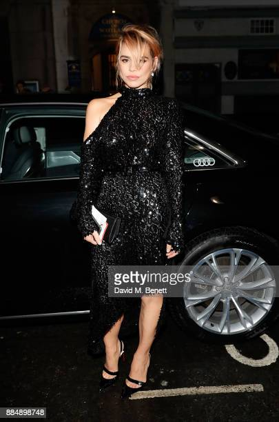 Billie Piper arrives in an Audi at the Evening Standard Theatre Awards at Theatre Royal on December 3 2017 in London England