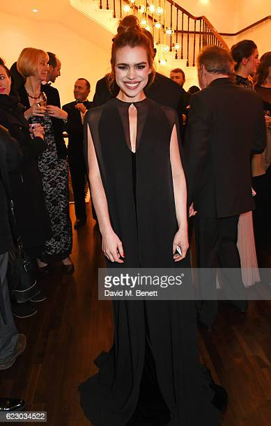 Billie Piper attends a cocktail reception at The 62nd London Evening Standard Theatre Awards recognising excellence from across the world of theatre...