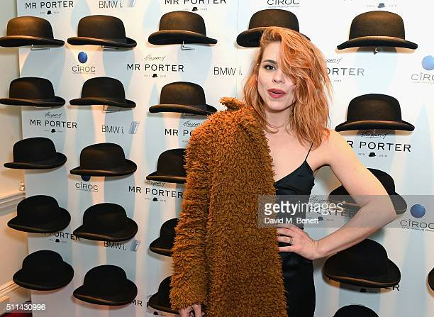 Billie Piper attends Mr Porter's fifth birthday celebration at The Savile Club on February 20 2016 in London England