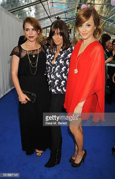Billie Piper Claudia Winkleman and Fearne Cotton arrive at the Glamour Women Of The Year Awards at Berkeley Square Gardens on June 8 2010 in London...