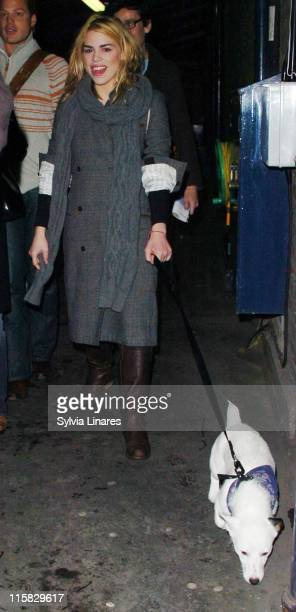 Billie Piper during Billie Piper Sighting at the Garrick Theatre in London March 30 2007 at Garrick Theatre in London Great Britain