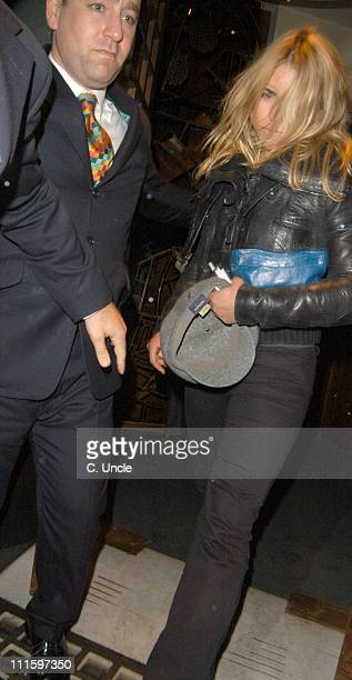Billie Piper during Billie Piper Sighting in London March 29 2005 at Ivy Restaurant in London Great Britain