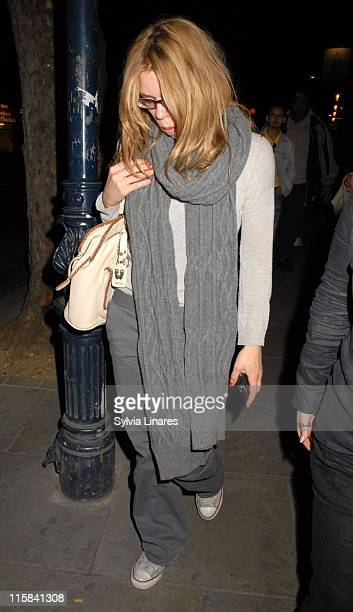 Billie Piper during Billie Piper Sighting Leaving the Garrick Theatre in London May 22 2007 at Garrick Theatre in London Great Britain