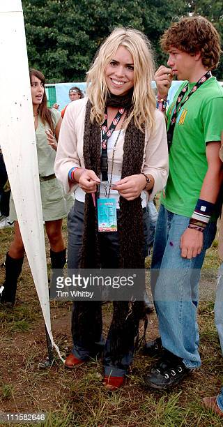 Billie Piper during V Festival 2005 Chelmsford Day One Backstage at Hylands Park in Chelmsford Great Britain