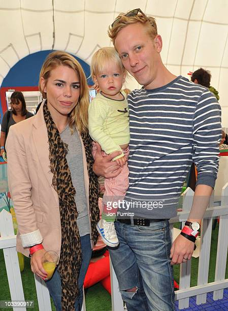 Billie Piper son Winston and Laurence Fox attend The Night GardenLive at the O2 on August 15 2010 in London England