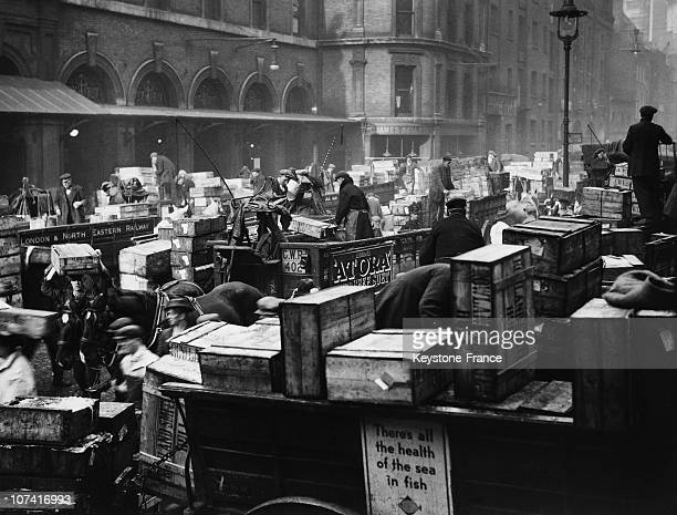 Billingsgate Fish Market On Good Friday In London On April 1930