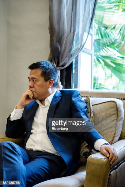 Billionaire Chen Tianqiao founder and chairman of Shanda Group listens during an interview in Singapore on Friday June 9 2017 A dozen years ago the...