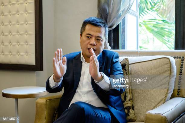 Billionaire Chen Tianqiao founder and chairman of Shanda Group speaks during an interview in Singapore on Friday June 9 2017 A dozen years ago the...