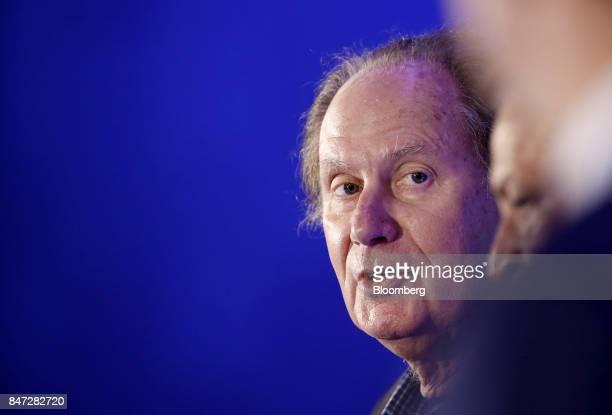 Billionaire David 'Bondo' Bonderman chairman of TPG Holdings LP speaks at the Milken Institute Asia Summit in Singapore on Friday Sept 15 2017 The...