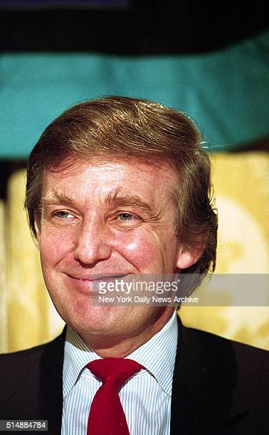 Billionaire Donald Trump at news conference at the DuPont Plaza in Wilmington Delaware promoting his 'Tour de Trump' bicycle race to be held in May...