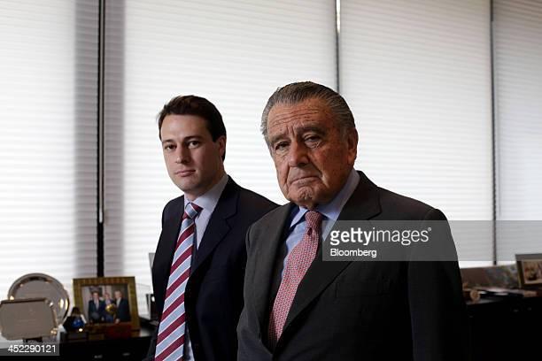 Billionaire Eduardo Eurnekian owner of Aeropuertos Argentina 2000 SA and head of Corporacion America right and his nephew Hugo Eurnekian head of the...