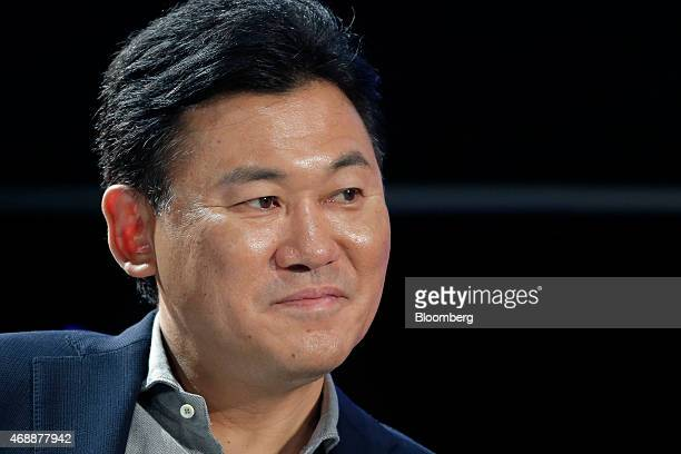 Billionaire Hiroshi Mikitani chairman and chief executive officer of Rakuten Inc and representative director of the Japan Association of New Economy...