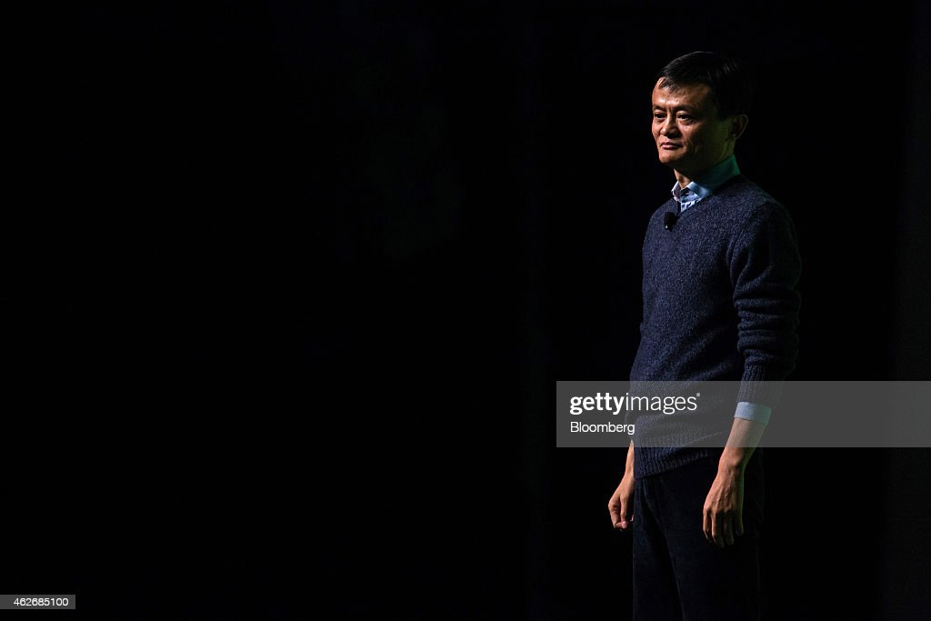 Billionaire <a gi-track='captionPersonalityLinkClicked' href=/galleries/search?phrase=Jack+Ma&family=editorial&specificpeople=2110288 ng-click='$event.stopPropagation()'>Jack Ma</a>, chairman of Alibaba Group Holding Ltd., pauses during a speech at an event in Hong Kong, China, on Monday, Feb. 2, 2015. Ma regained his spot as Asia's richest person with a higher valuation for the company's finance affiliate ahead of a stock sale that also created a dozen new billionaires. Photographer: Lam Yik Fei/Bloomberg via Getty Images