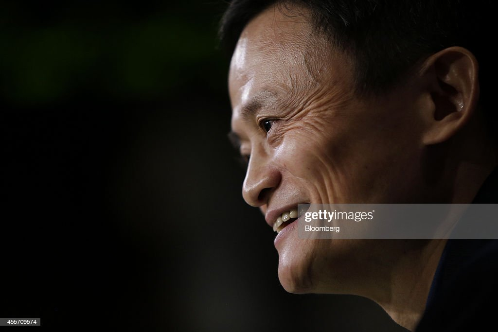 Billionaire <a gi-track='captionPersonalityLinkClicked' href=/galleries/search?phrase=Jack+Ma&family=editorial&specificpeople=2110288 ng-click='$event.stopPropagation()'>Jack Ma</a>, chairman of Alibaba Group Holding Ltd., speaks during an interview on the floor of the New York Stock Exchange (NYSE) in New York, U.S., on Friday, Sept. 19, 2014. Alibaba Group Holding Ltd., the e-commerce company started in 1999 with $60,000 cobbled together by Ma, cemented its status as a symbol of China's economic emergence by raising $21.8 billion in a U.S. initial public offering. Photographer: Scott Eells/Bloomberg via Getty Images