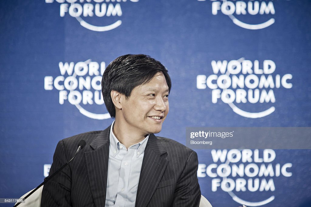 Billionaire <a gi-track='captionPersonalityLinkClicked' href=/galleries/search?phrase=Lei+Jun&family=editorial&specificpeople=7334031 ng-click='$event.stopPropagation()'>Lei Jun</a>, chairman and chief executive officer of Xiaomi Corp., speaks during an interview on the sidelines of the World Economic Forum (WEF) Annual Meeting of the New Champions in Tianjin, China, on Sunday, June 26, 2016. The meeting runs through June 28. Photographer: Qilai Shen/Bloomberg via Getty Images