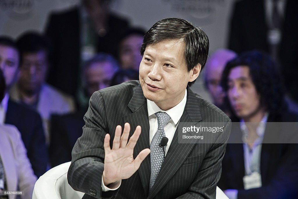 Billionaire <a gi-track='captionPersonalityLinkClicked' href=/galleries/search?phrase=Lei+Jun&family=editorial&specificpeople=7334031 ng-click='$event.stopPropagation()'>Lei Jun</a>, chairman and chief executive officer of Xiaomi Corp., speaks during a session at the World Economic Forum (WEF) Annual Meeting of the New Champions in Tianjin, China, on Monday, June 27, 2016. The meeting runs through June 28. Photographer: Qilai Shen/Bloomberg via Getty Images