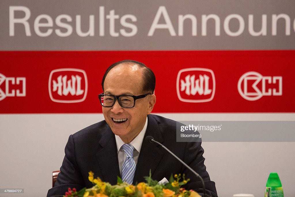 Billionaire Li Ka-shing Attends Cheung Kong Holdings And Hutchison Whampoa Annual Results News Conference