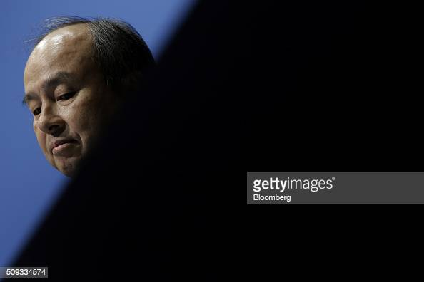 Billionaire Masayoshi Son chairman and chief executive officer of SoftBank Group Corp attends a news conference in Tokyo Japan on Wednesday Feb 10...