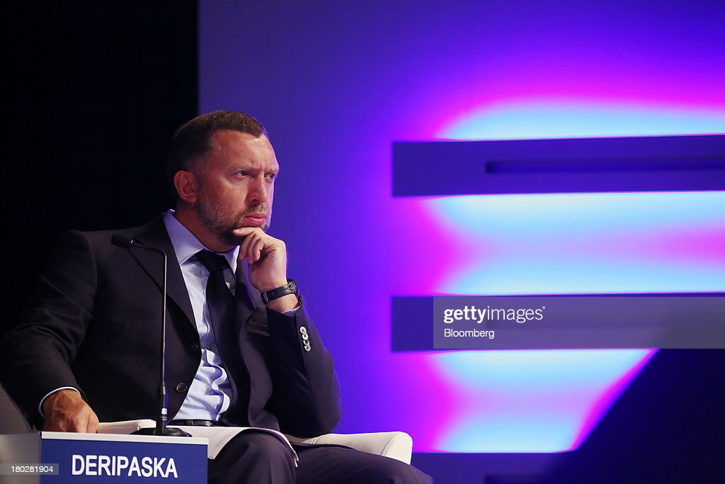 Billionaire Oleg Deripaska chief executive officer of United Co Rusal attends the World Economic Forum Annual Meeting Of The New Champions in Dalian...