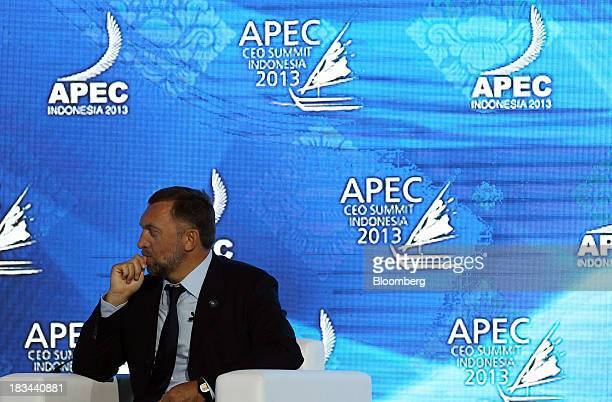 Billionaire Oleg Deripaska chief executive officer of United Co Rusal attends a panel discussion at the AsiaPacific Economic Cooperation CEO Summit...